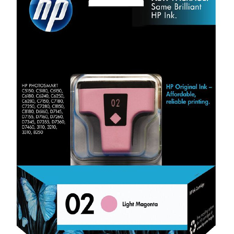 HP Ink 02 Light Magenta (230 Pages), , hi-res