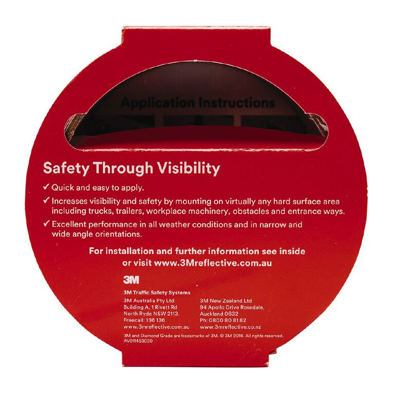 3M 983-72 Reflective Tape 50mm X 3m Red, , hi-res