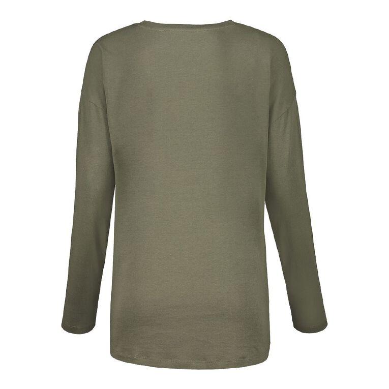 H&H Women's Long Sleeve, Khaki, hi-res