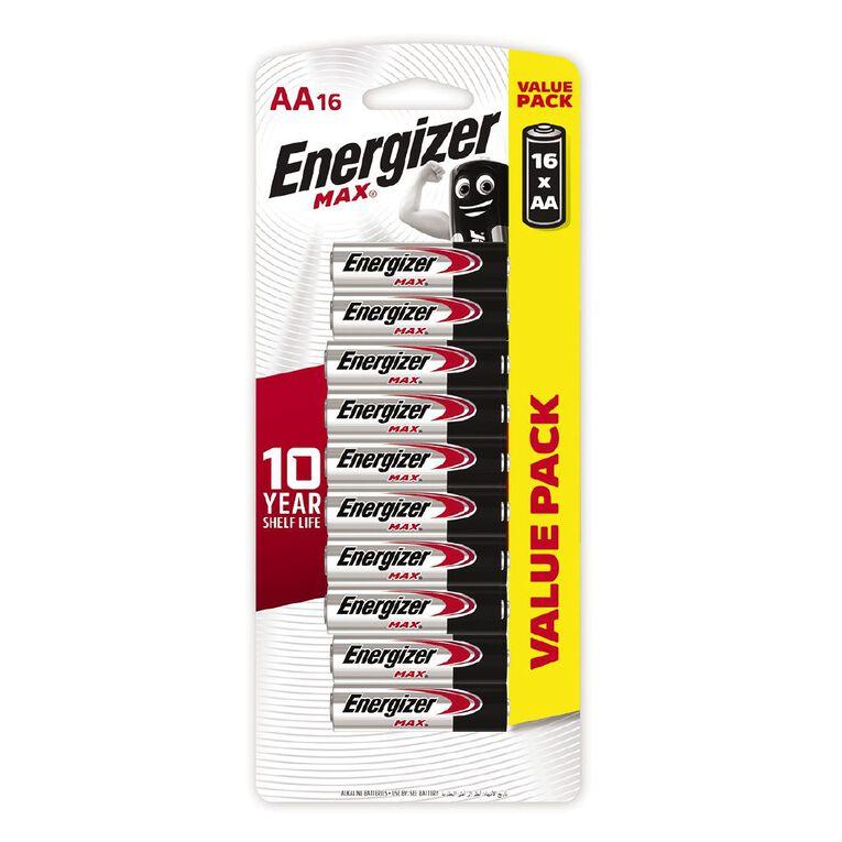 Energizer Max Alkaline Batteries AA 16 Pack, , hi-res
