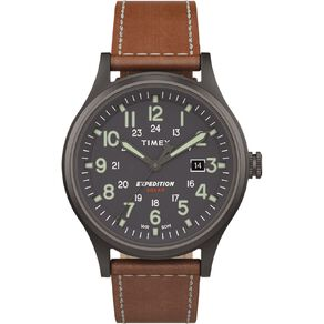 Timex Expedition Scout Solar 40mm Watch Gunmetal/Brown