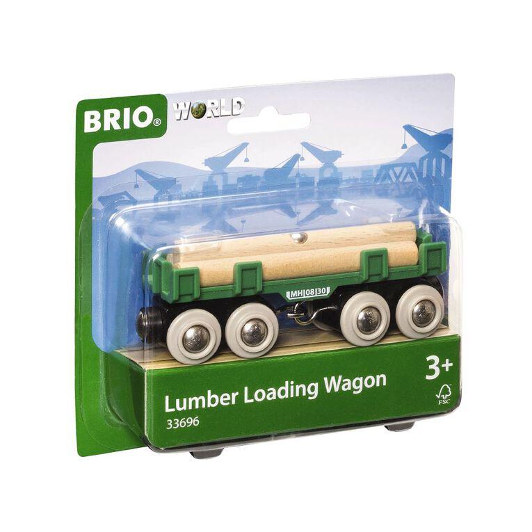 Brio Lumber Loading Wagon 4 Pieces, , hi-res