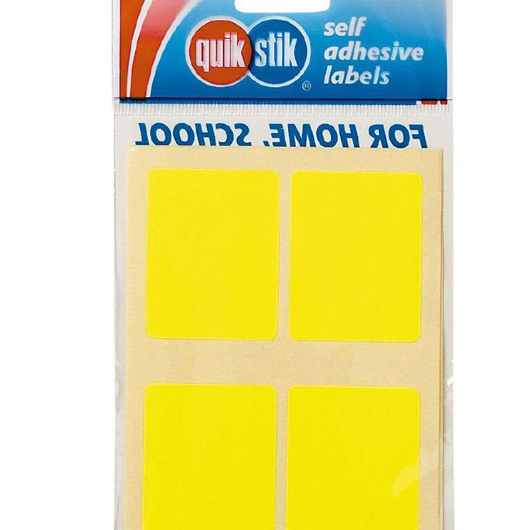 Quik Stik Labels Labels MR3545 28 Pack Fluoro Yellow, , hi-res