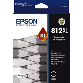 Epson Ink 812XL Black (1100 Pages)