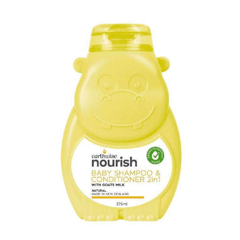 Earthwise Nourish Baby Shampoo & Conditoner 2n1 275ml, , hi-res