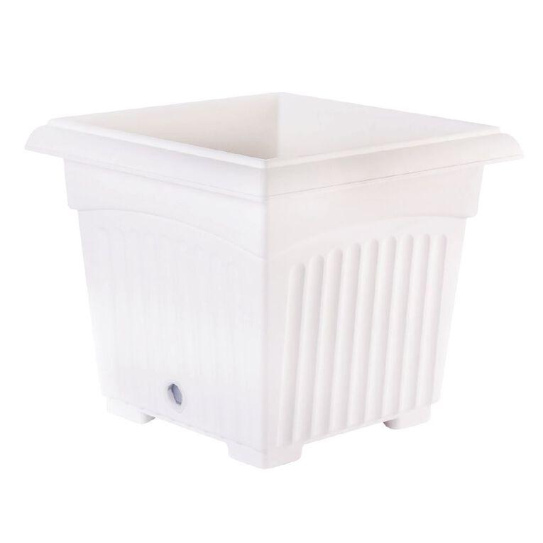 Baba Square Pot 200 White 20cm, , hi-res