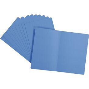 WS Manilla Folders Foolscap 10 Pack Blue