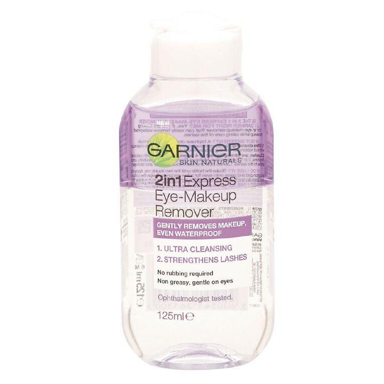 Garnier Express 2 in 1 Eye Make-Up Remover 125ml, , hi-res