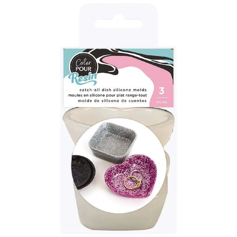 American Crafts Color Pour Mold Catch All Dish 3 Pack, , hi-res