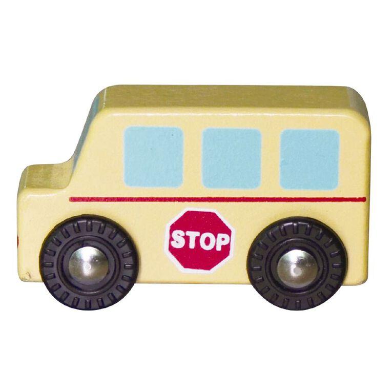 Play Studio Mini Wooden Vehicle Bus, , hi-res