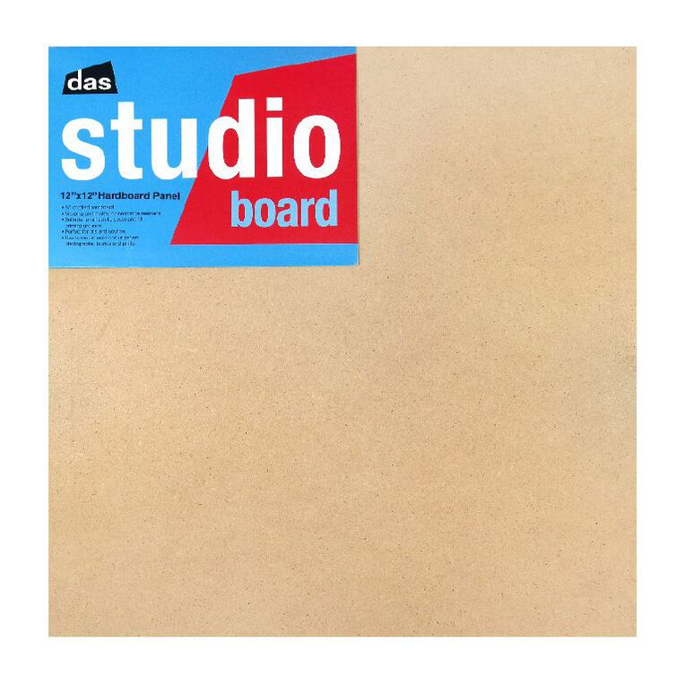 DAS Studio 3/4 Hardboard 12 x 12 Brown, , hi-res
