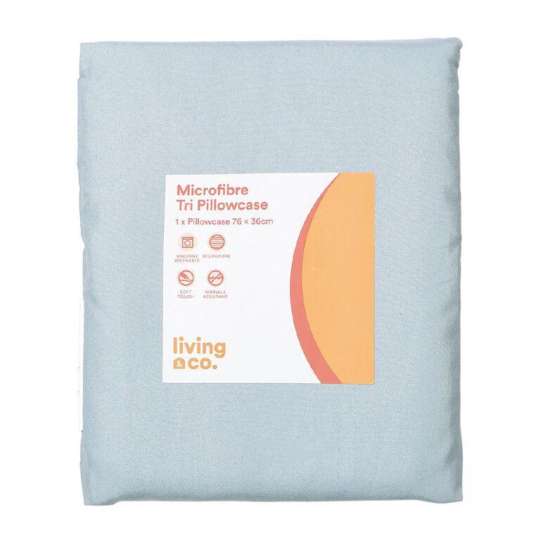 Living & Co Pillowcase Tri Microfibre Aqua 76cm, Aqua, hi-res