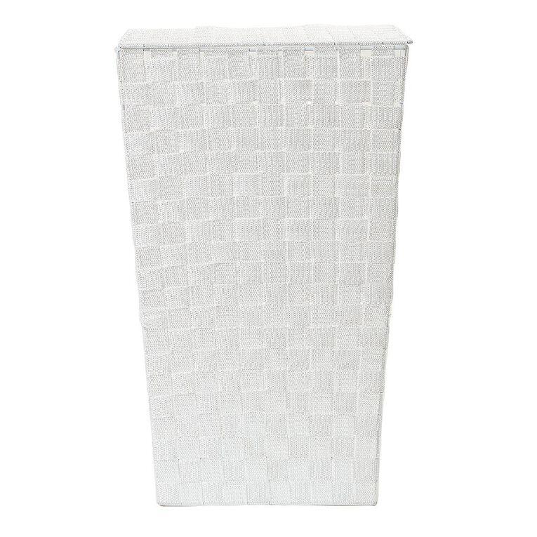 Living & Co Woven Hamper White, , hi-res