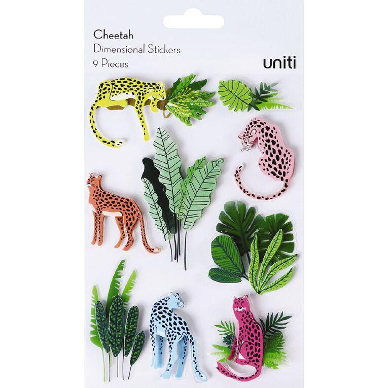 Uniti Dimensional Stickers Cheetah, , hi-res