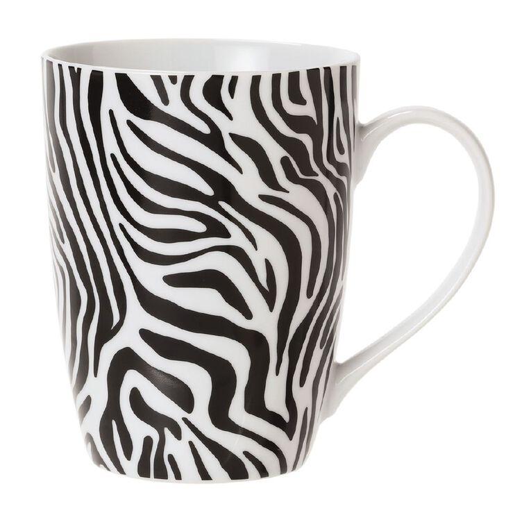 Living & Co Printed Zebra Mug Multi-Coloured, , hi-res