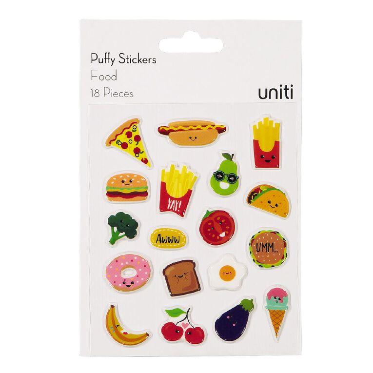 Uniti Puffy Stickers Food, , hi-res