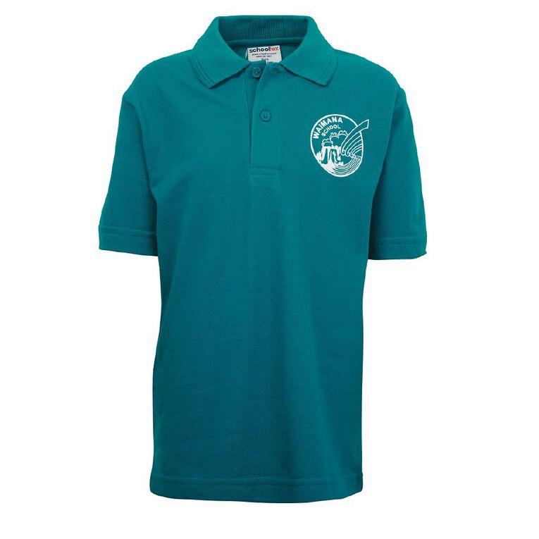 Schooltex Waimana Short Sleeve Polo with Transfer, Jade, hi-res