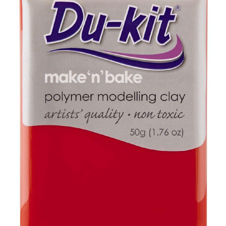 Du-kit Clay Scarlet 50g, , hi-res