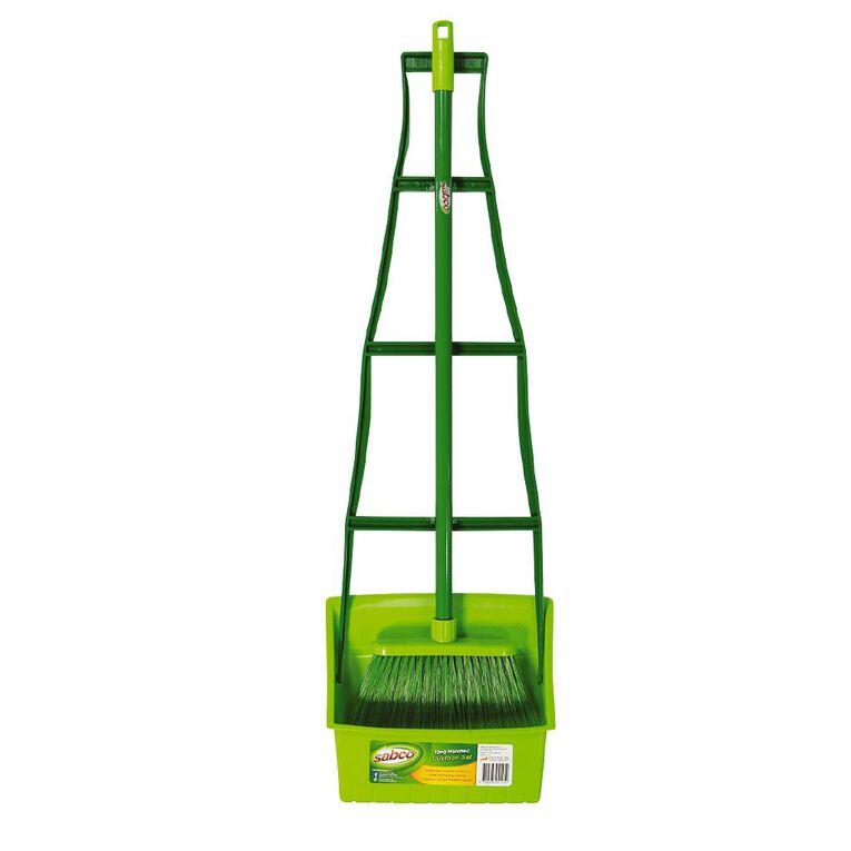 Sabco Long Handled Dustpan Green, , hi-res