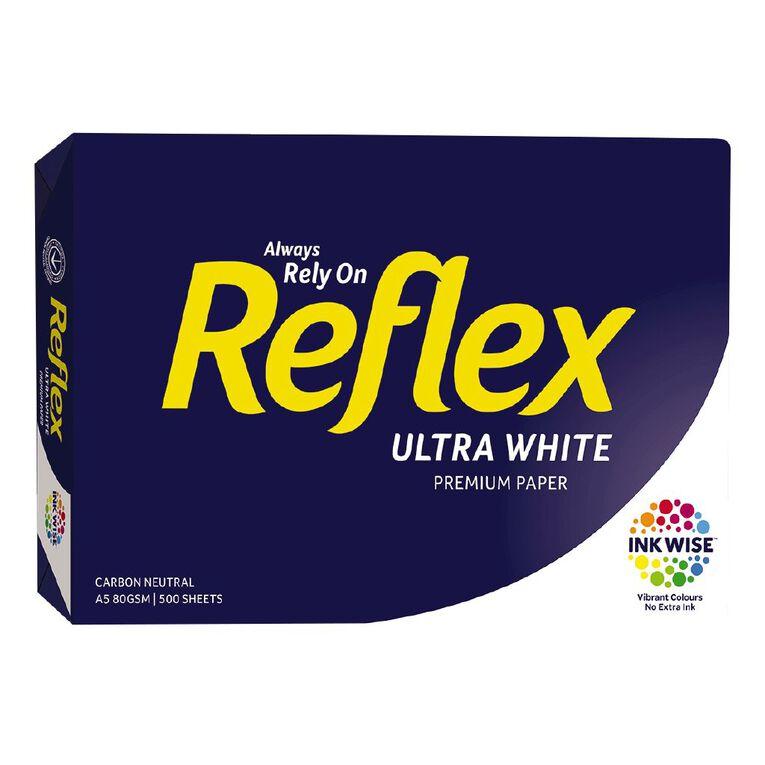Reflex Copy Paper A5 White 80gsm 500 Pack, , hi-res