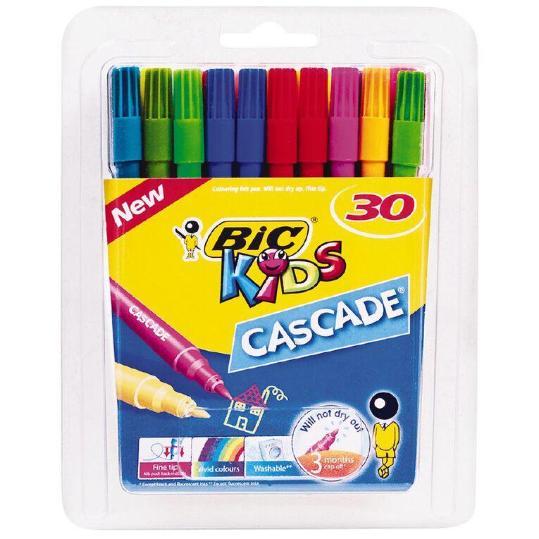 Bic Cascade Felt Tip Pen 30 Pack, , hi-res