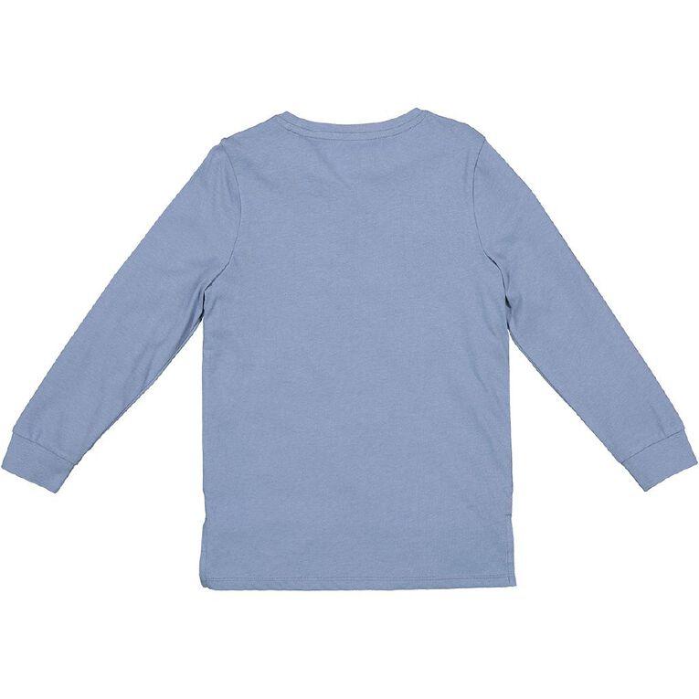 Young Original Long Sleeve Print Cuff Tee, Blue Mid, hi-res