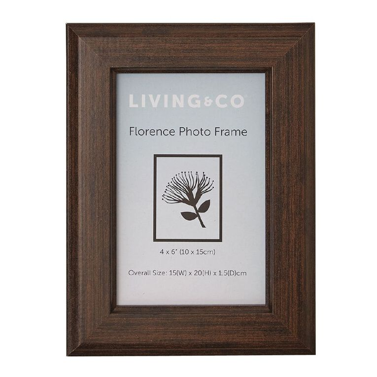 Living & Co Florence Frame Brown 5in x 7in, Brown, hi-res