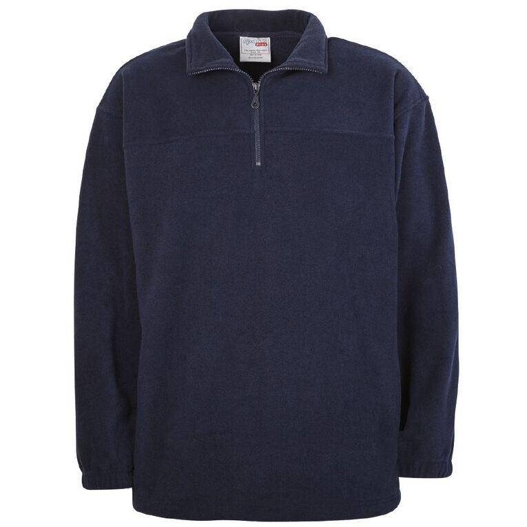 Schooltex Polar Fleece Top, Navy, hi-res