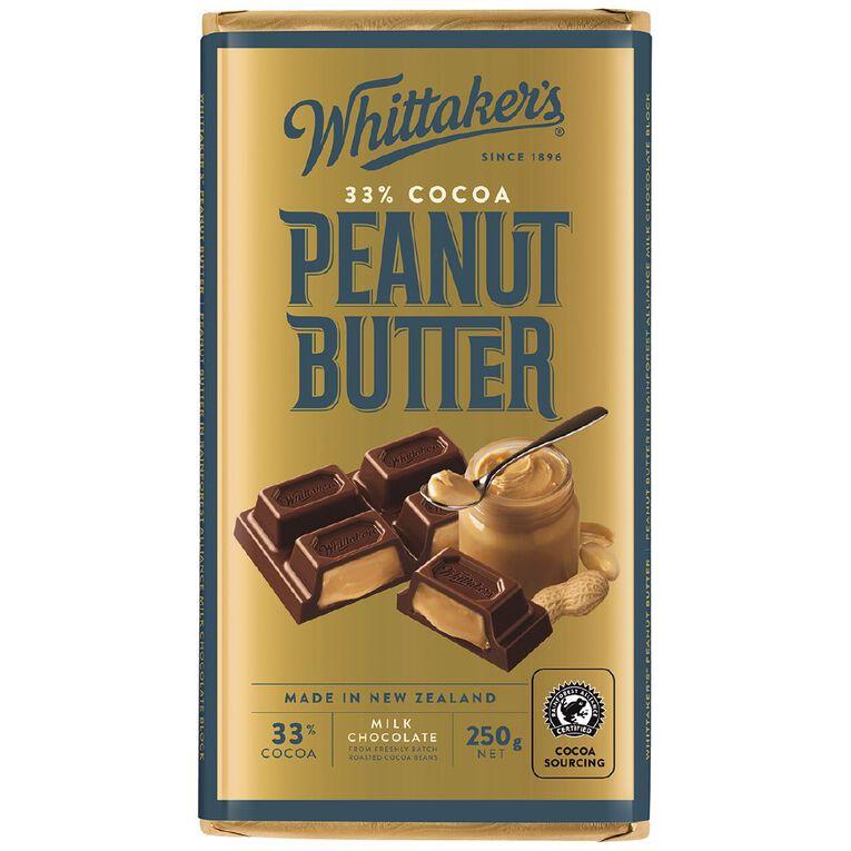 Whittaker's Peanut Butter Block 250g, , hi-res