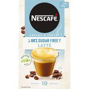 Nescafe 98% Sugar Free Latte 10 Pack