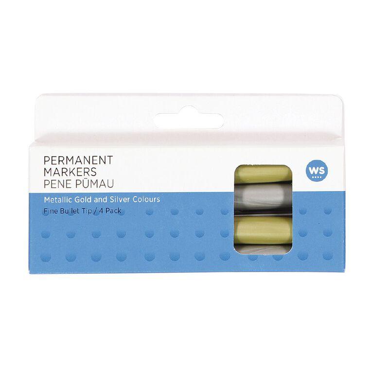 WS WS Permanent Marker Metallic 4pack, , hi-res