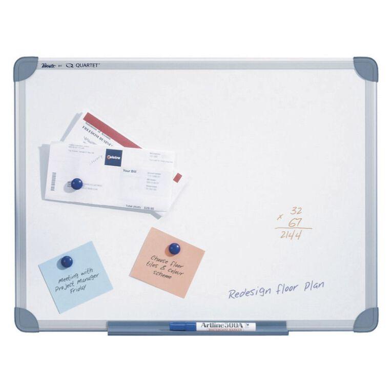 Quartet Penrite Magnetic Whiteboard 450 x 600 Aluminium Frame White, , hi-res