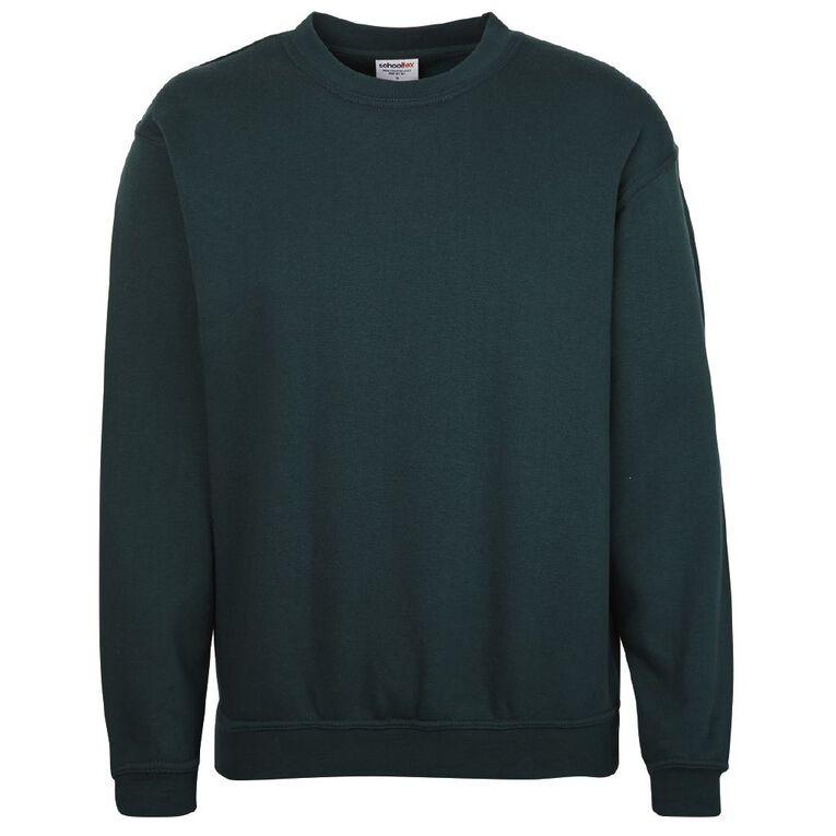 Schooltex Adults' Fleece Sweatshirt, Bottle Green, hi-res