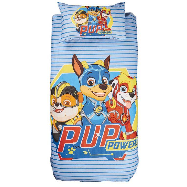 Paw Patrol Duvet Cover Set Paws Chase Blue Single, Blue, hi-res