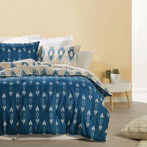 Living & Co Comforter Set 7 Piece Tahne Beige Queen