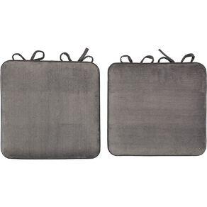 Living & Co Memory Foam Chair Pad 2 Pack 40cm x 40cm