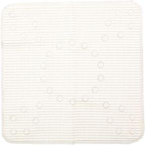 Living & Co Shower Mat Anti Bacterial White 53cm x 53cm