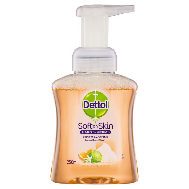 Dettol Foam Hand Wash Lime & Orange Pump 250ml, , hi-res