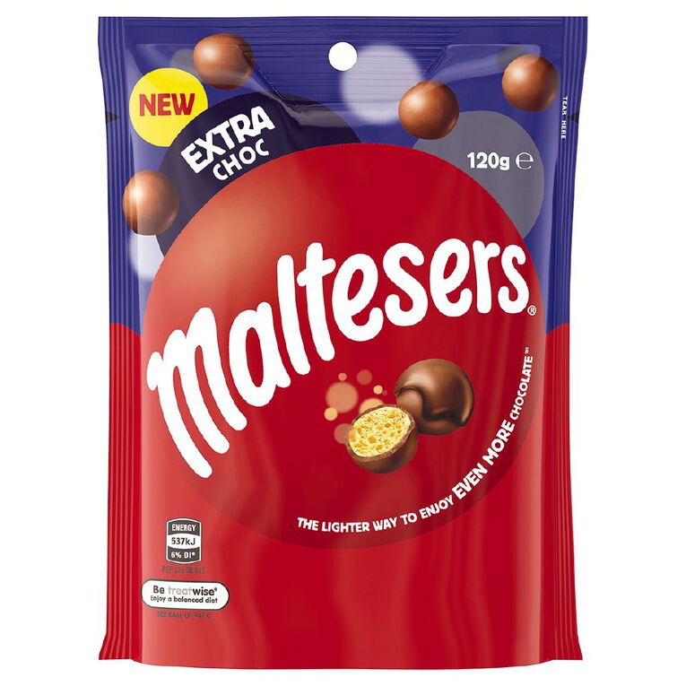Maltesers Extra Milk Chocolate Bag 120g, , hi-res image number null