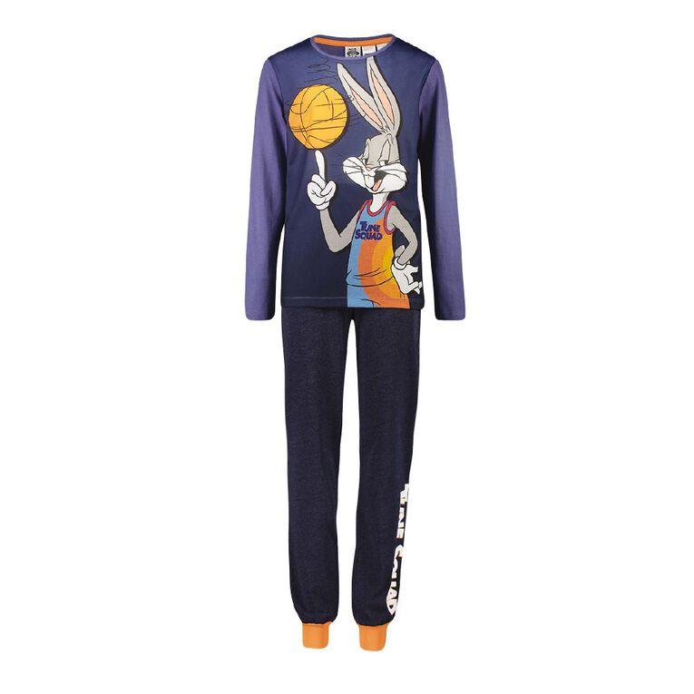 Looney Tunes Boys' Knit Pyjama, Navy, hi-res