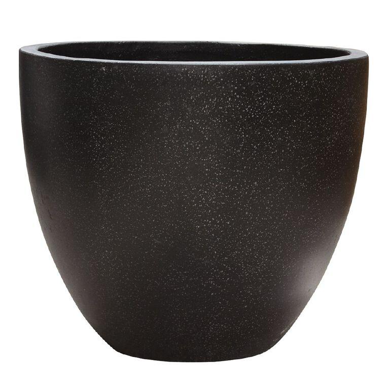 Kiwi Garden Lightweight Cement Egg Planter Black 25cm, , hi-res