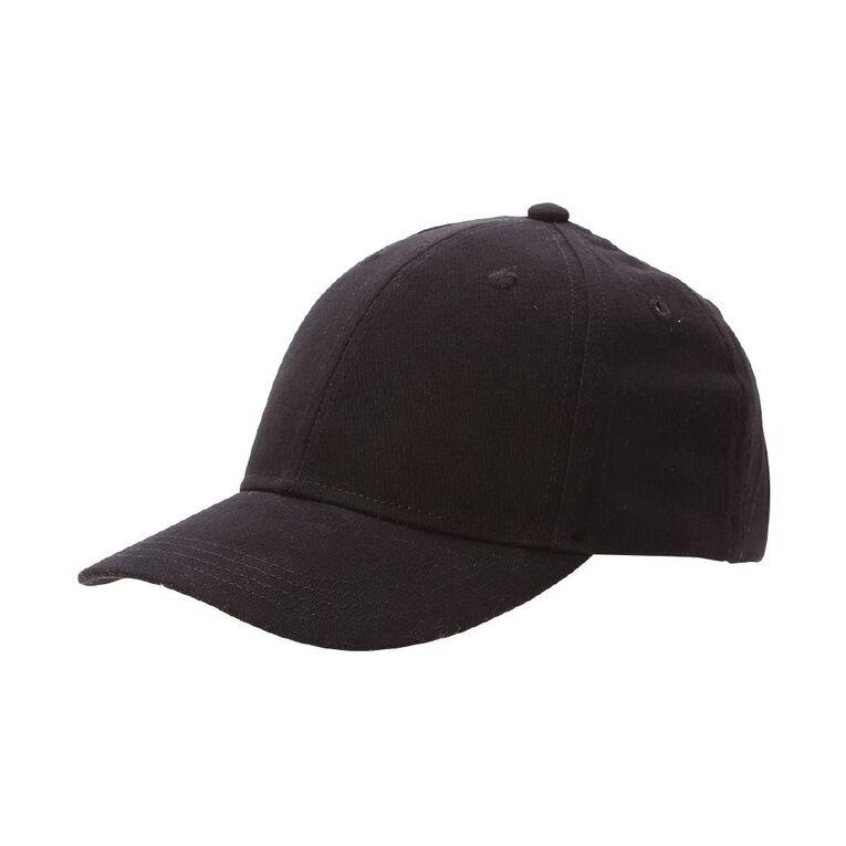 Young Original Boys' Twill Peak Cap, Black, hi-res