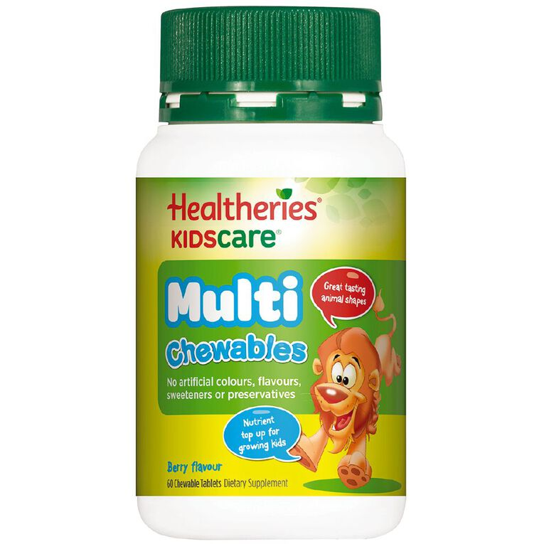Healtheries Kidscare Multivitamin Chewables 60s, , hi-res