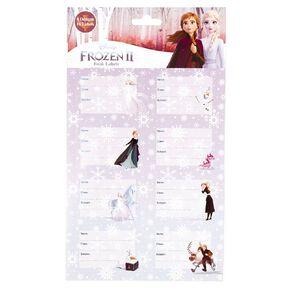 Frozen 2 Q2 Book Labels Purple