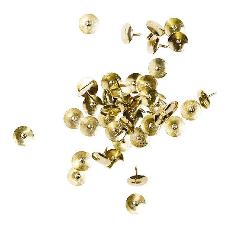 WS Drawing Pins 200 Pack Brass, , hi-res