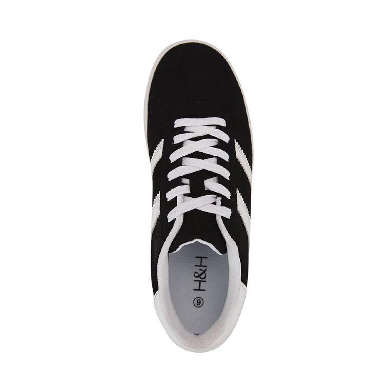 H&H Women's Fashion Trainer Shoes, Black/White, hi-res