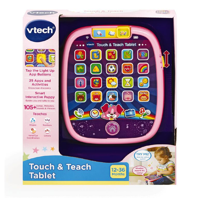 Vtech Touch and Teach Tablet Pink, , hi-res