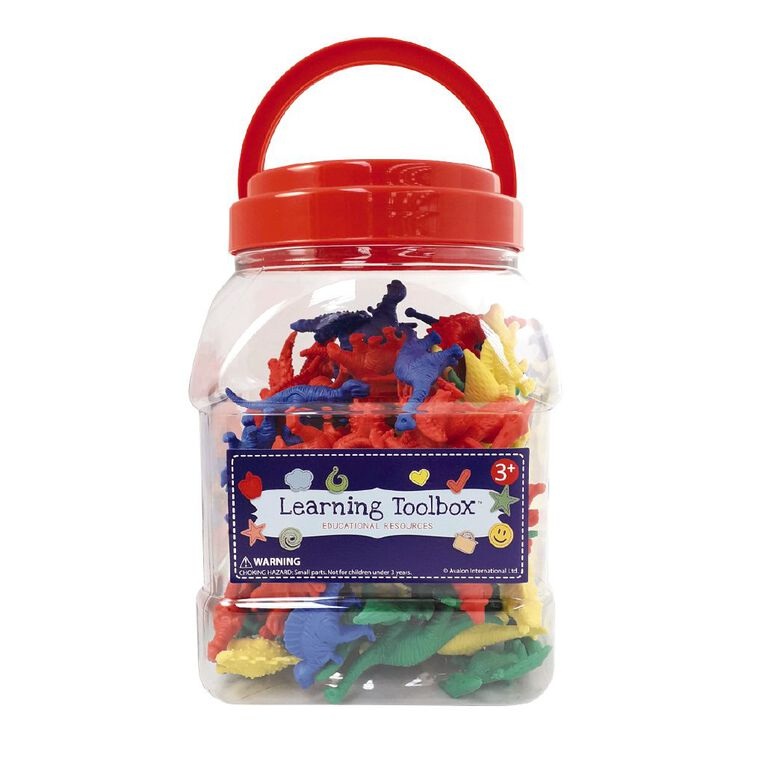 Learning Tool Box Counter Dinosaurs Colour 128pieces, , hi-res