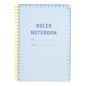 Uniti Back To School A5 Notebook Spiral Blue Light