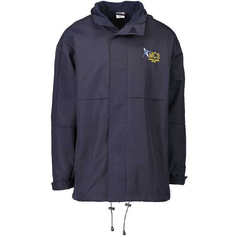 Schooltex Mangere Central Anorak with Embroidery, Navy, hi-res